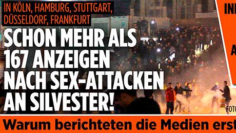 Волна скандалов на сексуальной почве прокатилась по многим городам Германии