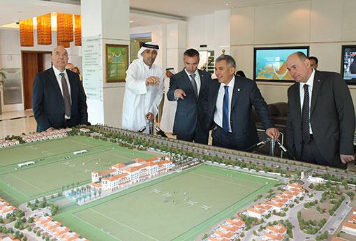 В майские праздники Рустам Минниханов провел ряд деловых встреч с руководством крупнейших строительных и инвестиционных компаний в Объединенных Арабских Эмиратах