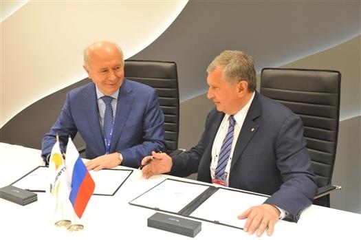 Николай Меркушкин и Игорь Сечин подписали дополнительное соглашение о сотрудничестве